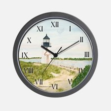 Path To Brant Point Light Wall Clock