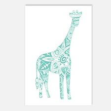 Robin's Egg Giraffe Postcards (Package of 8)