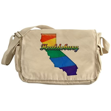 Healdsburg, California. Gay Pride Messenger Bag