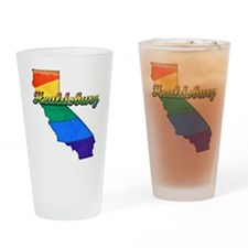 Healdsburg, California. Gay Pride Drinking Glass