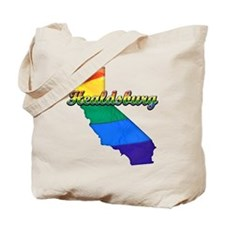 Healdsburg, California. Gay Pride Tote Bag