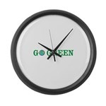 Go Green Merchandise Large Wall Clock