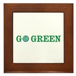 Go Green Merchandise Framed Tile