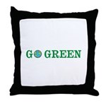 Go Green Merchandise Throw Pillow