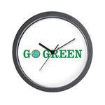 Go Green Merchandise Wall Clock