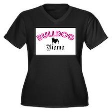 Cute Dog mama Women's Plus Size V-Neck Dark T-Shirt