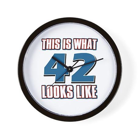 Cool 42 year old birthday designs Wall Clock