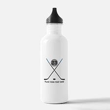 Ice Hockey Personalize Water Bottle