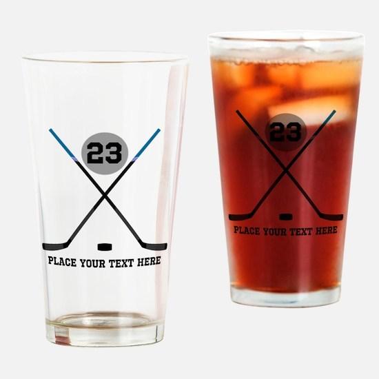 Ice Hockey Personalized Drinking Glass