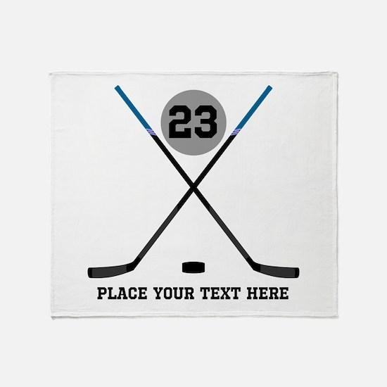 Ice Hockey Personalized Throw Blanket