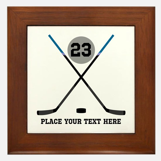 Ice Hockey Personalized Framed Tile