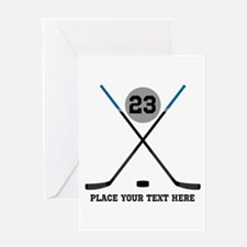 Ice Hockey Personalized Greeting Card
