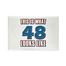 Cool 48 year old birthday designs Rectangle Magnet