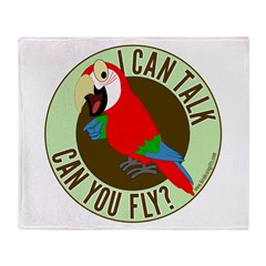 ICT,CYF Greenwing Macaw Throw Blanket