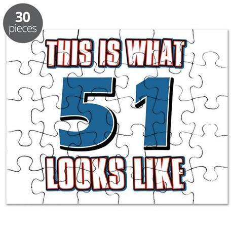 Cool 51 year old birthday designs Puzzle