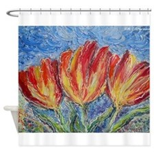 Tulips, colorful art! Shower Curtain