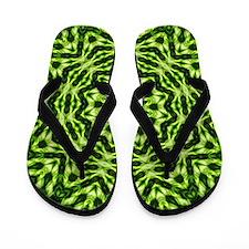 Kiwi Mandala Flip Flops