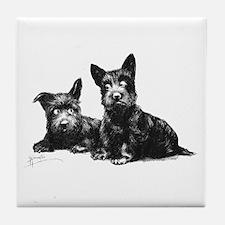 Scottie Dogs Tile Coaster