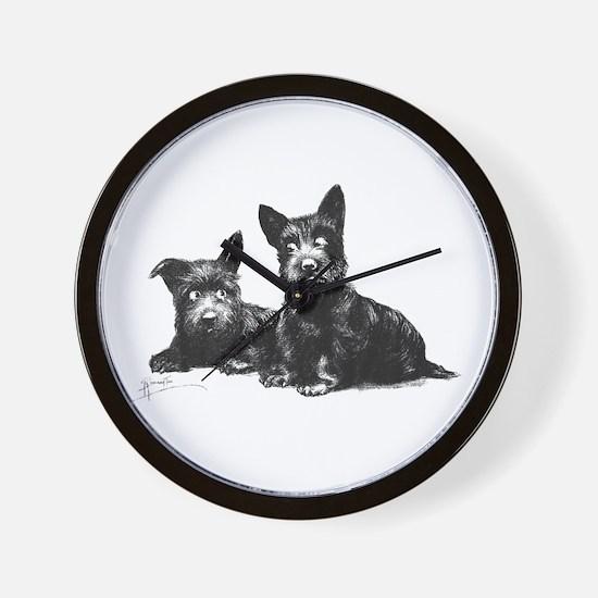 Scottie Dogs Wall Clock