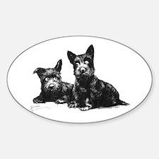 Scottie Dogs Sticker (Oval)