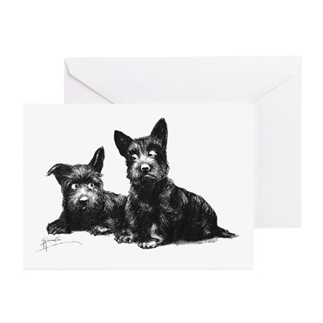 Scottie Dogs Greeting Cards (Pk of 10)