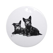Scottie Dogs Ornament (Round)