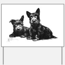 Scottie Dogs Yard Sign