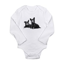 Scottie Dogs Long Sleeve Infant Bodysuit