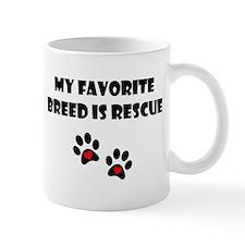 My Favorite Breed is Rescue Mug
