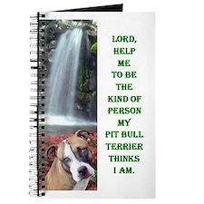 Funny Pit bull terrier items Journal