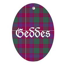 Tartan - Geddes Ornament (Oval)