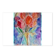 Red Tulips Postcards (Package of 8)