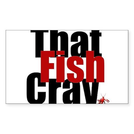 Fish CRAY Sticker (Rectangle)