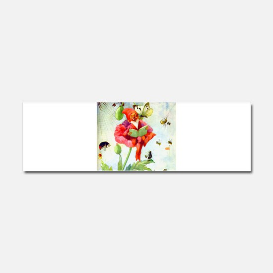 Poppy Gnome Car Magnet 10 x 3