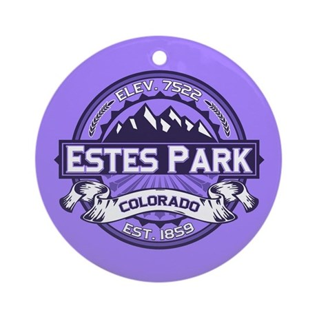 Estes Park Purple Ornament (Round)