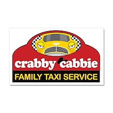 Crabby Cabbie Car Magnet 20 x 12