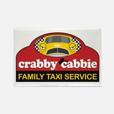 Crabby Cabbie Rectangle Magnet