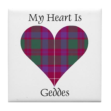 Heart - Geddes Tile Coaster