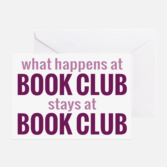 What Happens at Book Club Greeting Card