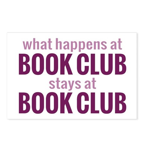 What Happens at Book Club Postcards (Package of 8)