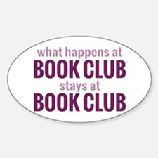 What Happens at Book Club Decal