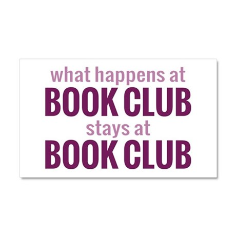 What Happens at Book Club Car Magnet 20 x 12