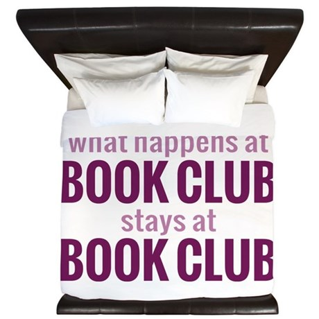 What Happens at Book Club King Duvet
