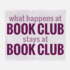 What Happens at Book Club Throw Blanket