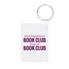 What Happens at Book Club Keychains