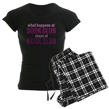 What Happens at Book Club Women's Dark Pajamas