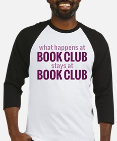 What Happens at Book Club Baseball Jersey
