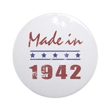 Made In 1942 Ornament (Round)