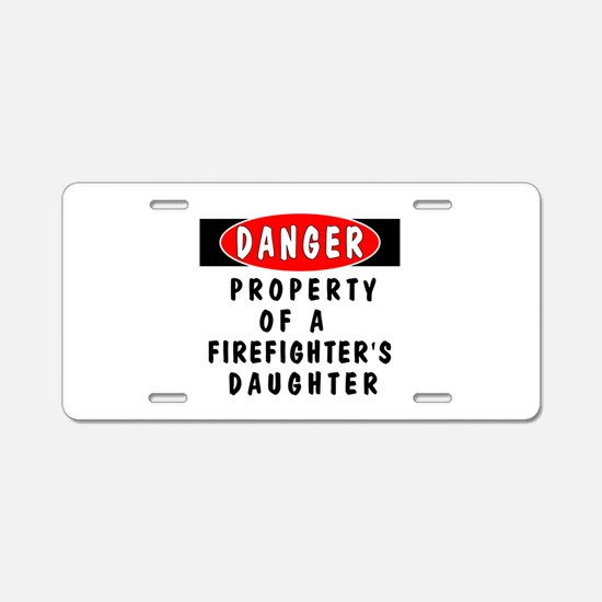 Firefighter's Daughter Aluminum License Plate