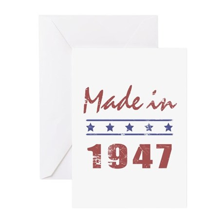 Made In 1947 Greeting Cards (Pk of 20)